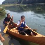 魚は釣れなかったけど、カヌー体験で笑顔に(^^♪