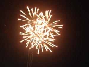 ステージイベントの後は、大輪の花が夏の夜を彩っていました。